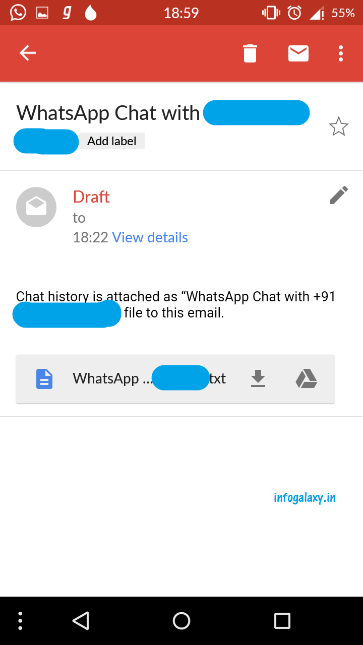 How to Convert WhatsApp Conversation Into text Format-infogalaxy.in