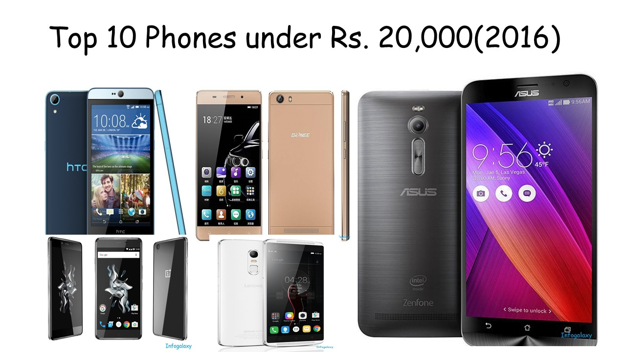 Top 10 Phones under Rs 20,000(2016)-infogalaxy.in