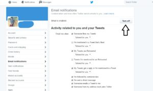 How To Turn Off Twitter Email Notifications-infogalaxy.in