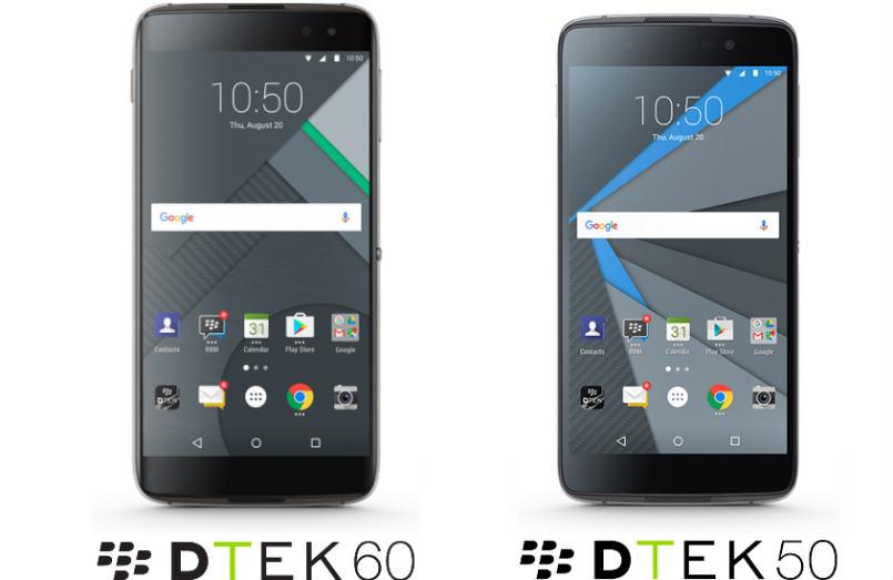 Blackberry launched most secured smartphones DTEK50 and DTEK60 In India