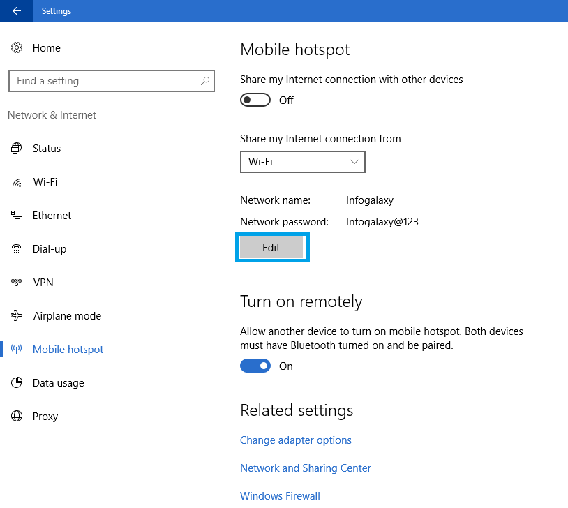 How To Turn On Personal Hotspot In Windows 10