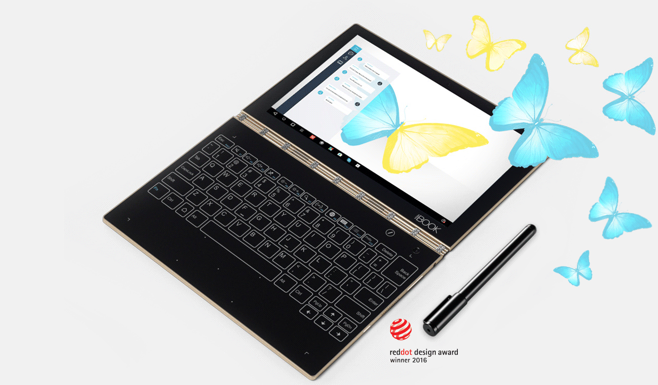 Lenovo Launched Lenovo Yoga Book With on-demand Digital Halo Keyboard